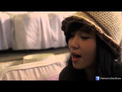 """[Hậu trường - Vietnam Idol 2012] Xuân Hương luyện giọng với """"Chuyện Tình"""""""