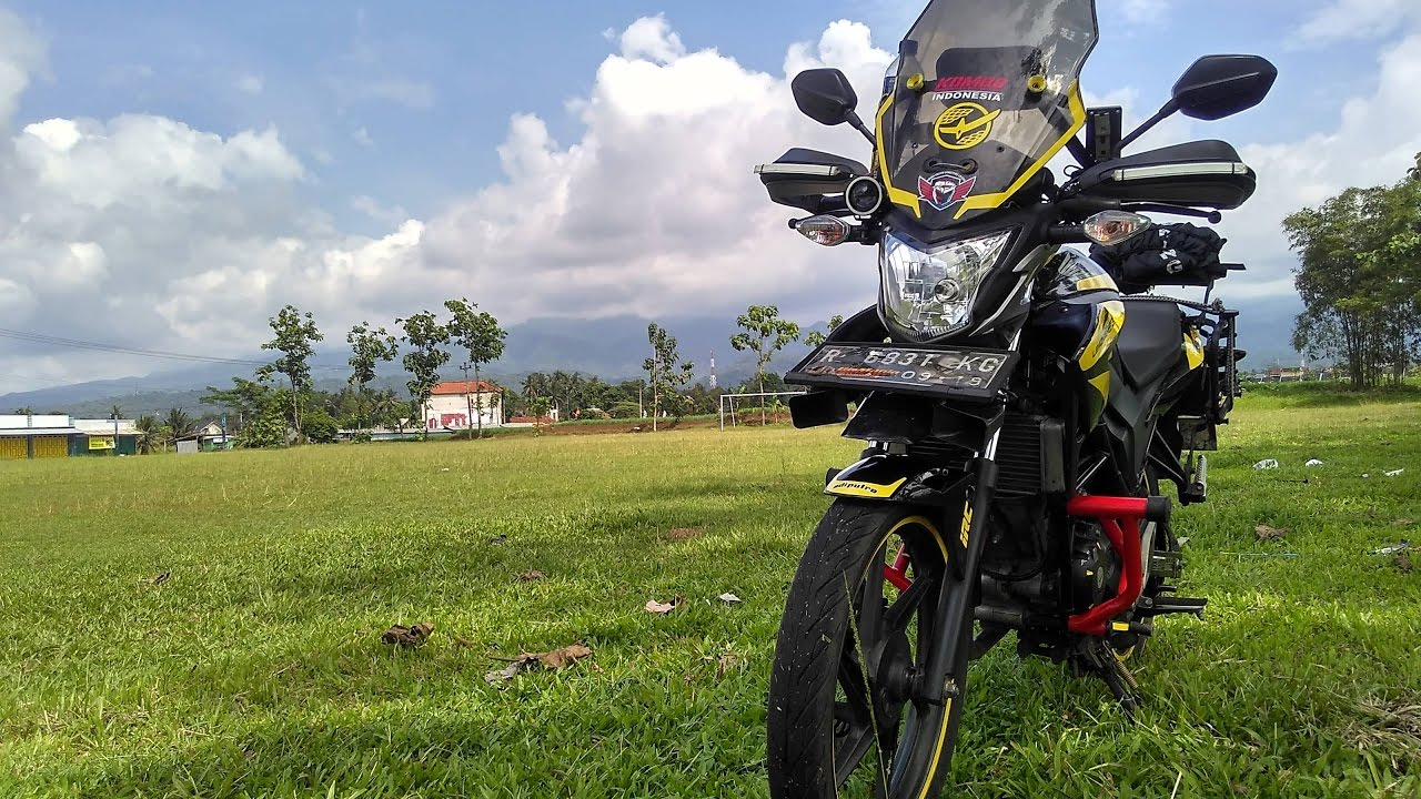modifikasi motor honda old cb150r adventure touring style | mmabm