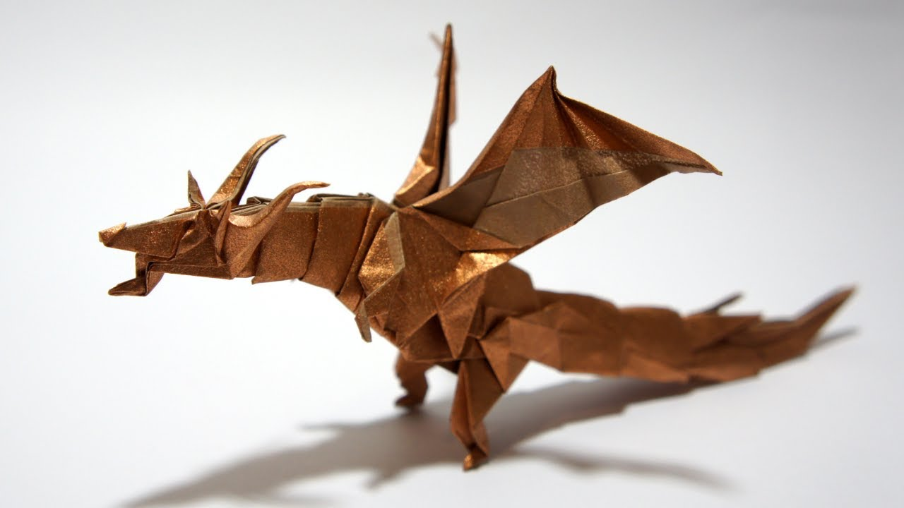 Origami Fiery Dragon instructions ( Kade Chan) - YouTube |Origami Fiery Dragon Instructions
