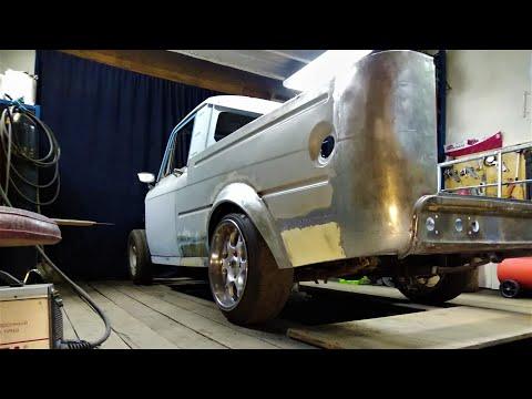 #7 ПИКАП из ИЖ 2715 CUSTOM PICKUP #БЕЛЯШ пескоструйная обработка днища авто .грунт. антигравий
