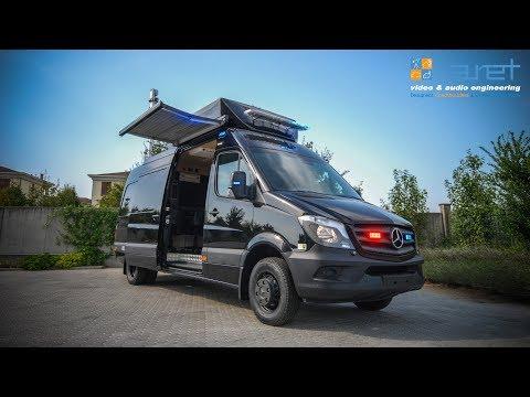 4 HD Cameras Police OB Van with 1 PTZ Camera on telescopic mast