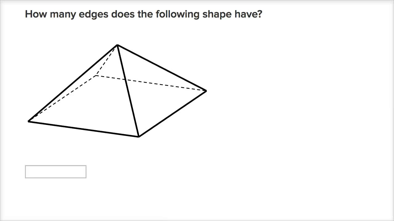 medium resolution of Counting faces and edges of 3D shapes (video)   Khan Academy