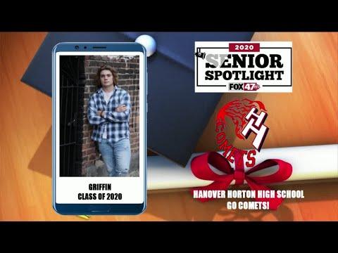 Hanover Horton High School Senior Spotlight - Griffin