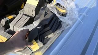 Конек под профнастил, монтаж универсального уплотнителя, видео