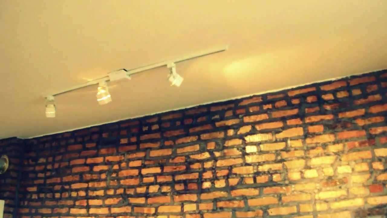 Very Cool Loft Style Exposed Brick Track Lighting & Oak Floor & More ...