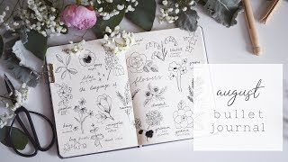 PLAN WITH ME August 2018   Secret Language of Flowers