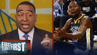 Cris Carter on why Durant's Warriors will not win the 2018 NBA championship   FIRST THINGS FIRST