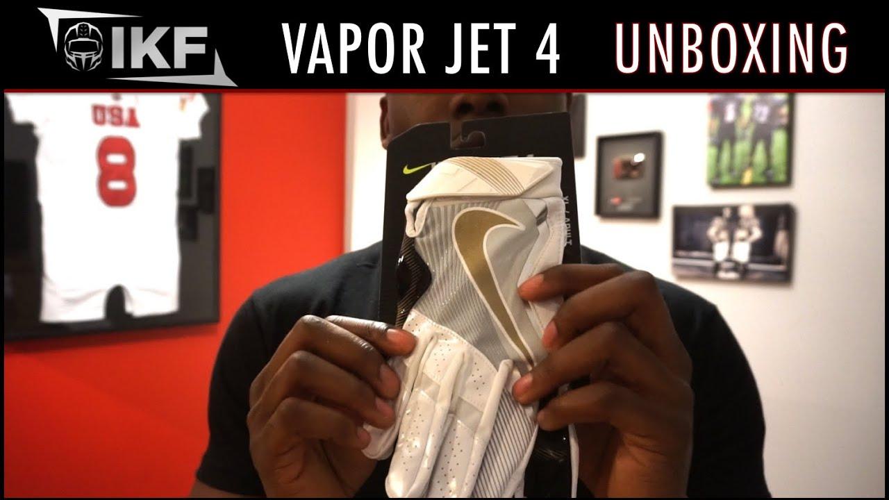 size 40 f7c0a 63e84 Nike Vapor Jet 4 Football Gloves - Super Bowl 50 - Unboxing - Ep. 286
