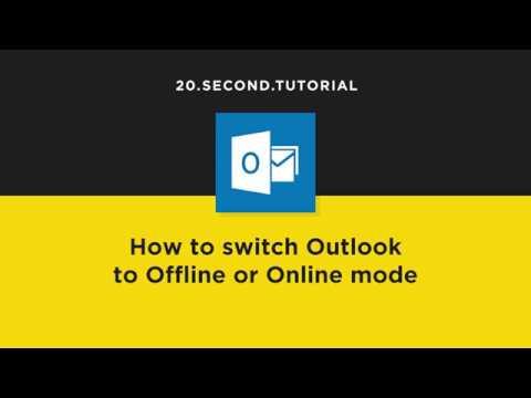 Switch Outlook Online Or Offline | Microsoft Outlook Tutorial #8