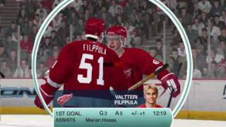 Filppula NHL 09 (PC) Goal - Detroit Red Wings