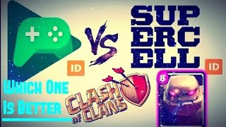 GOOGLE PLAY ID VS SUPERCELL ID // CLASH OF CLANS HINDI HD