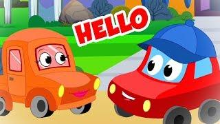 Hello World Song for Children   Car Cartoon Videos - Kids Channel