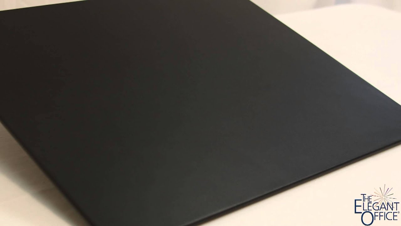 Black Leather Conference Table Pad X YouTube - Leather conference table pads