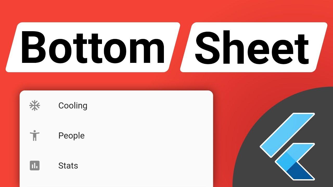 Flutter Modal Bottom Sheet Tutorial