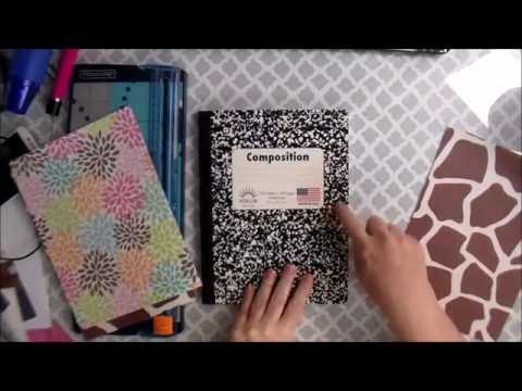 #BackToSchool DIY Covered Notebook