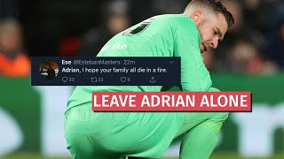 A lot of people have been criticising adrian for the mistake he made against atletico madrid at anfield in champions league. this goal keeper was rea...