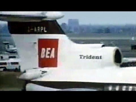 BEA Hawker Siddeley Trident 1C Promo Film - 1968