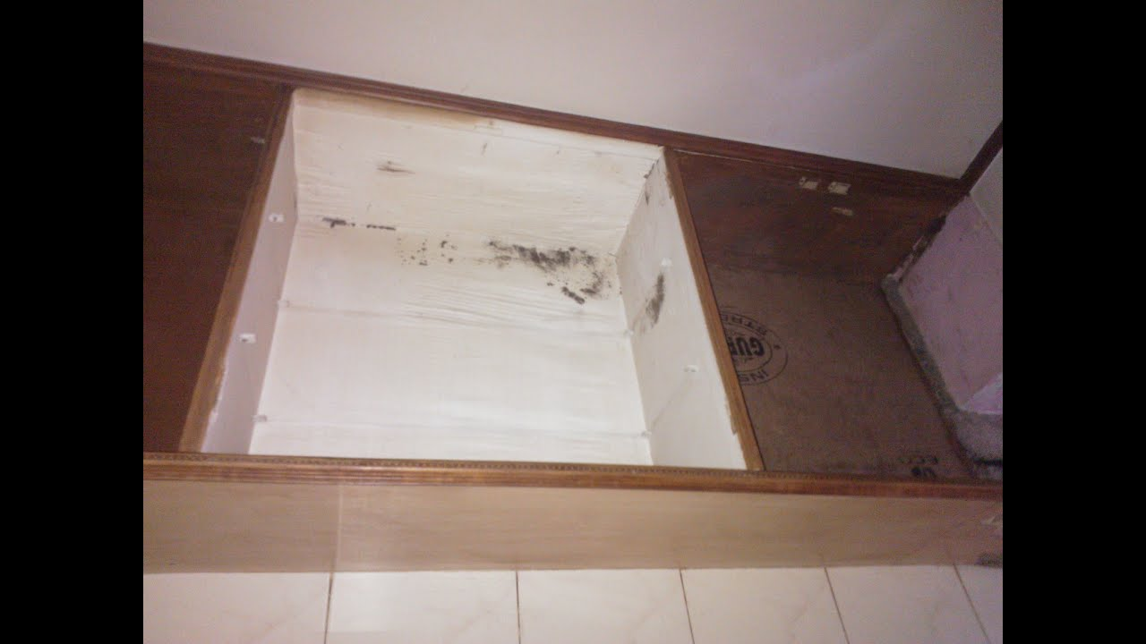 Cupboard destroyed by termites - YouTube