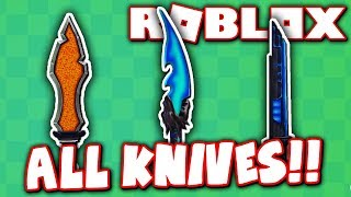 TEST OUT ALL KNIVES IN ROBLOX!! (Roblox Knife Simulator)