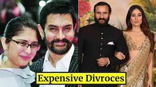 11 Most Expensive Divorces In  Bollywood - Aamir Khan, Kiran Rao, Tiger Shroff,Hrithik Roshan,Salman