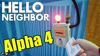 Hello Neighbor Alpha 4 Basement ENDING Unlocked! (Gameplay Playthrough)