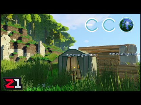 Checking out Eco ! Building a World without Destroying the Environment ! Eco Episode 1 | Z1 Gaming