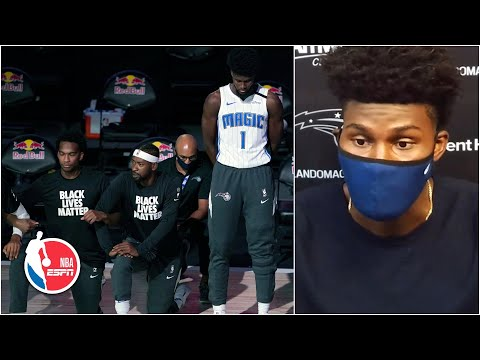 jonathan-isaac-explains-decision-to-stand-during-national-anthem-|-nba-on-espn