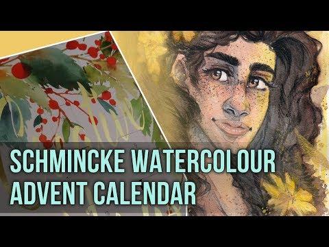 Art Advent Calendar Trying Schmincke Watercolours Youtube
