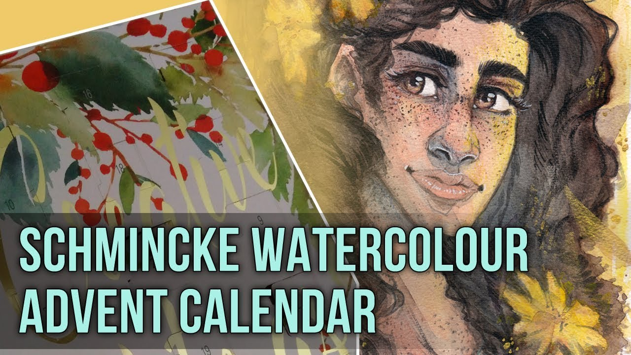 Art Advent Calendar Trying Schmincke Watercolours Youtube