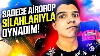 SADECE AİRDROP SİLAHLARIYLA BİRİNCİ OLDUM   PUBG Mobile Airdrop Challenge (Türkçe)