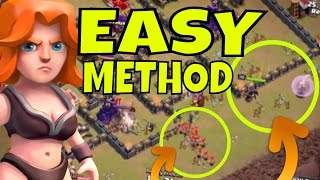 EASY Queen Walk + Mass Valk Strategy [The Jenny Method] for TH9 Clash Of Clans
