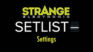SetList by Strange Electronic: Settings