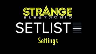 SetList by Strange Electronic: Settings