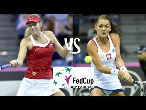 Sharapova vs A.Radwanska | 2015 Fed Cup Highlights