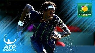 INCREDIBLE Monfils shots & celebrations in win over Isner | Indian Wells 2018