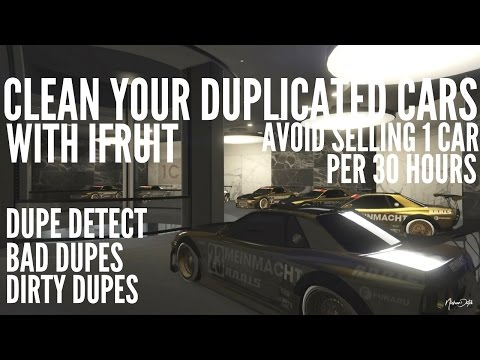 GTA 5 INFO Clean your bad duplication cars by Ifruit 1.38 [Gta V]