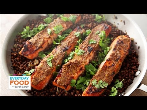 Mustard Glazed Salmon with Lentils - Everyday Food with Sarah Carey ...