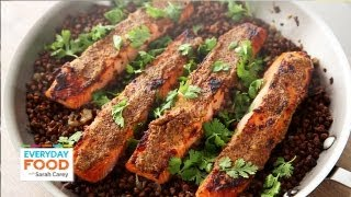 Mustard Glazed Salmon With Lentils - Everyday Food With Sarah Carey