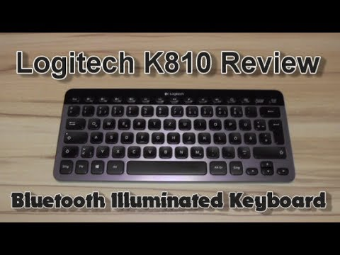 Logitech K810 Bluetooth Illuminated Keyboard Review Youtube