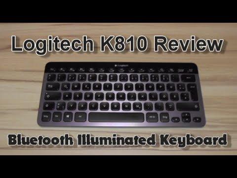 Logitech K810 Bluetooth Illuminated Keyboard Review Youtube