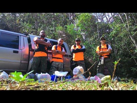 Entrega de doações no Parque Estadual do Desengano