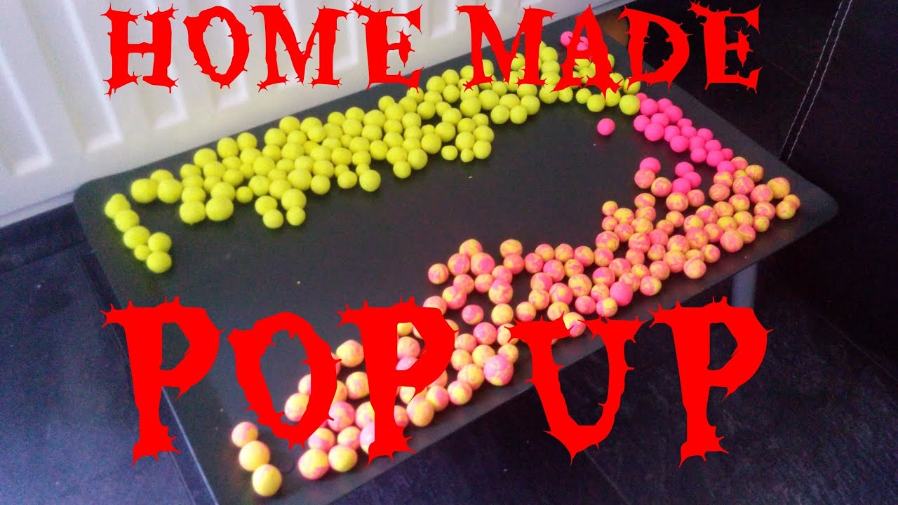 Pop Up Fishing : Home made pop up pink boilie carp fishing youtube
