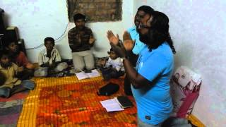 the poor widows . praise and worship God .at Cuddapa , Andhra pradesh ,India