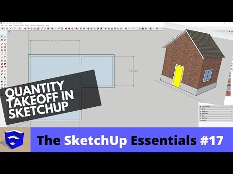 Quantity Takeoff in SketchUp - The SketchUp Essentials #17