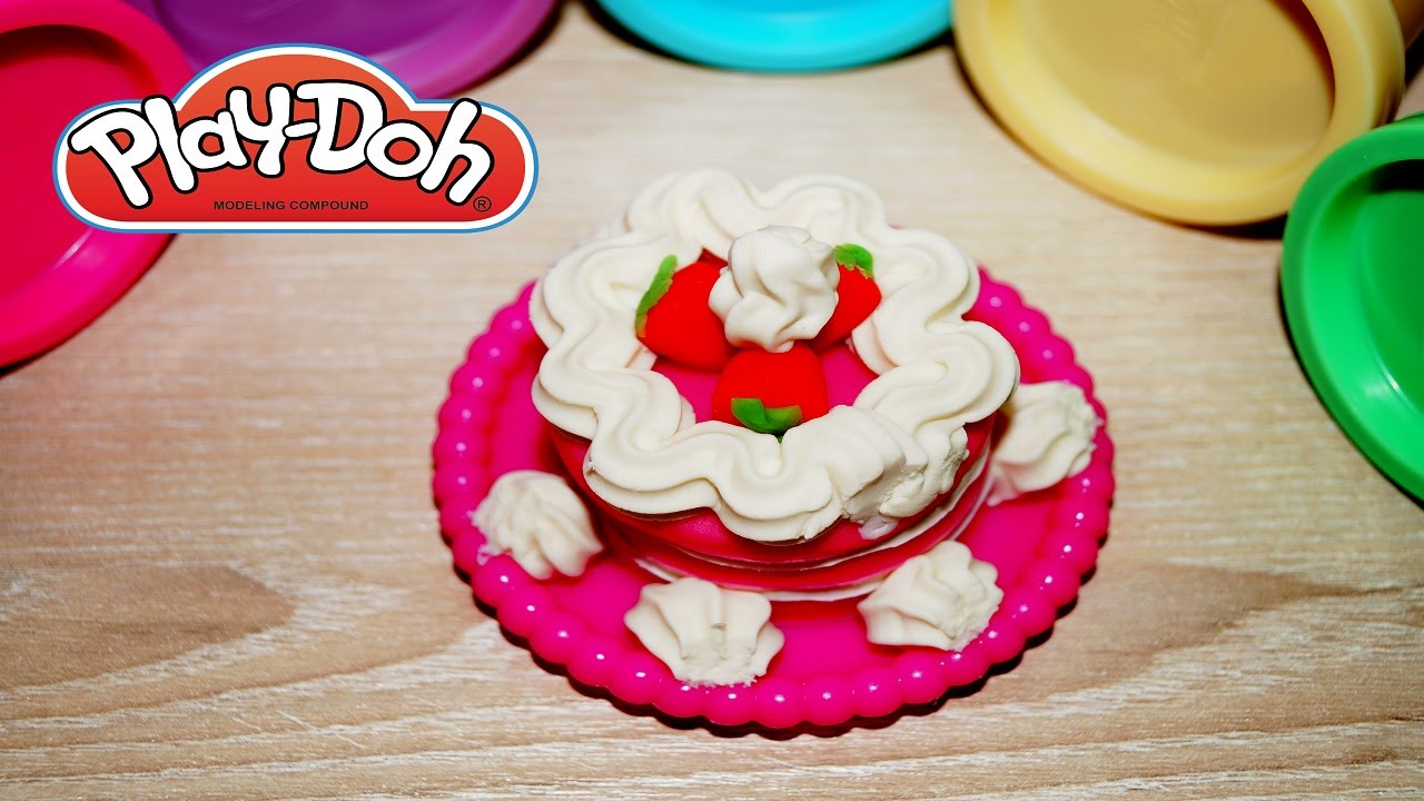 Cake Ice Cream Play Doh : Play Doh Strawberry Ice Cream Birthday Cake - YouTube