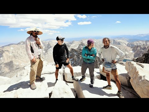 A CHAT with PCT HIKERS on the SUMMIT of MOUNT WHITNEY