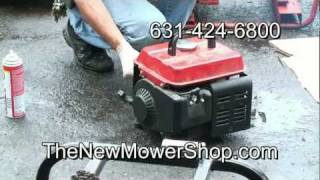 Hurricane Irene generator and chainsaw repair Huntington New York