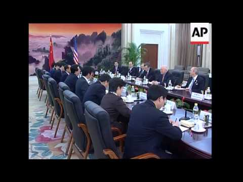 US Vice President meets Chinese counterpart