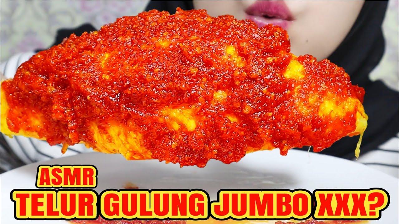SUPER! ASMR TELUR GULUNG JUMBO MERCON   ASMR INDONESIA