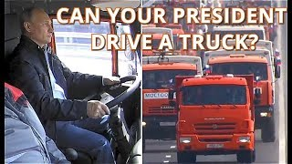 LET'S GO! - Putin Drives Kamaz Truck Across Newly-Opened Kerch Strait Bridge!